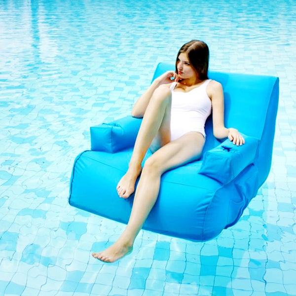 Shop Ove Decors Miami Inflatable Lounge Pool Float Blue