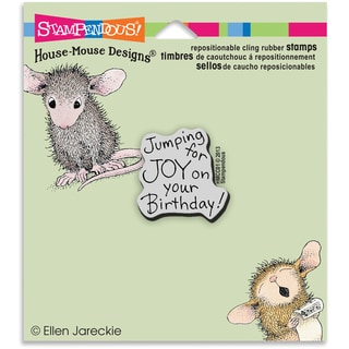 Stampendous House Mouse Cling Stamp 3.5X4 -Joy Birthday