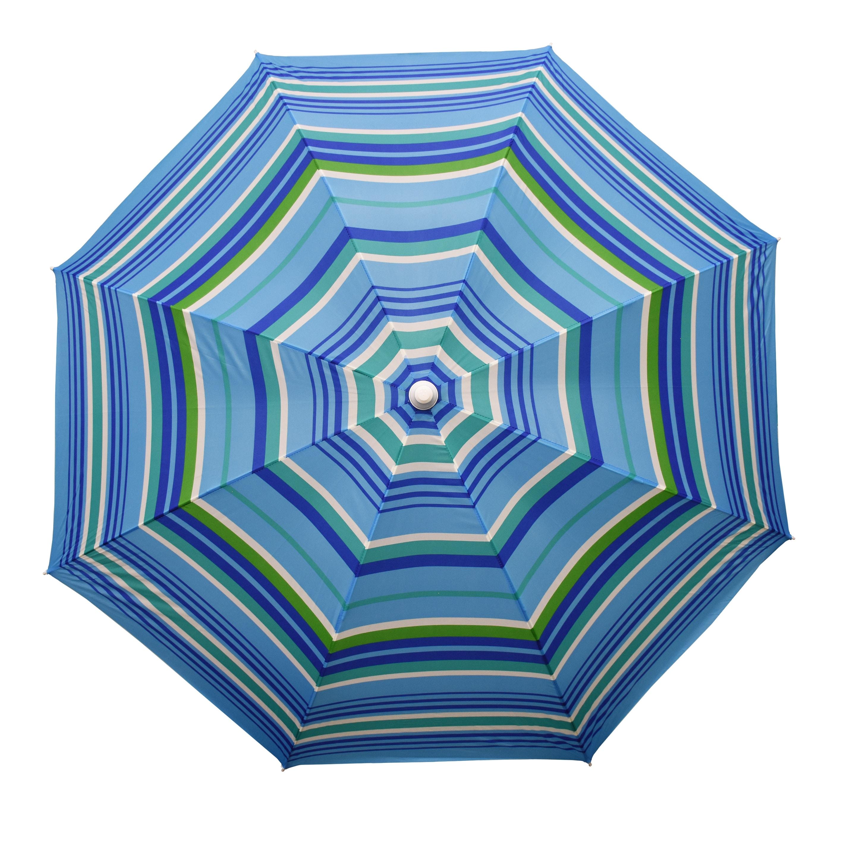 Astella 6' Round Beach Umbrella (6' Round, Mango Stripe),...