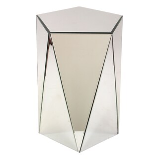 Avani Mirrored Pedestal End Table
