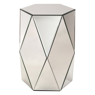 Sienna Mirrored Pedestal Side Table