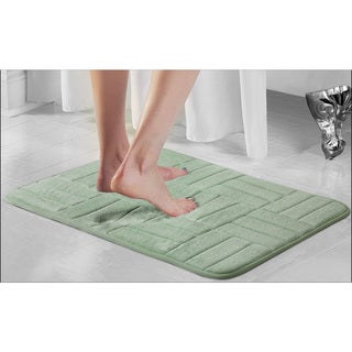 Parquet Microfiber & Memory Foam Anti Fatigue Bath Rug (4 options available)
