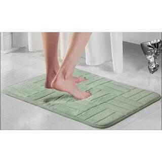 Parquet Microfiber Memory Foam Anti Fatigue Bath Rug 4 Options Available