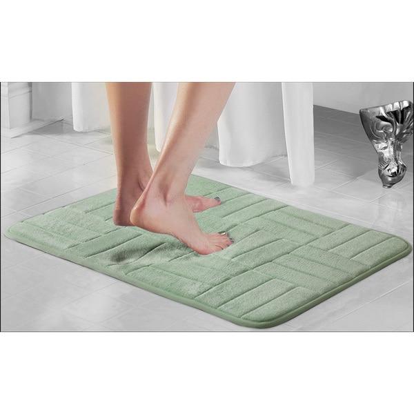Parquet Microfiber & Memory Foam Anti Fatigue Bath Rug