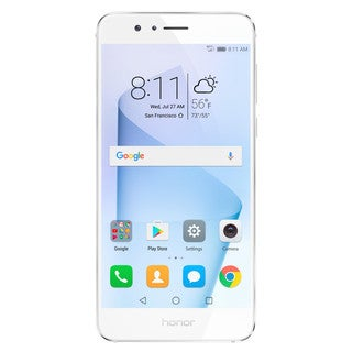 HUAWEI Honor 8 32GB Unlocked GSM 4G LTE Quad-Core Android Phone w/ 12MP Dual Lens Camera - Pearl White + Honor 8 Gift Box