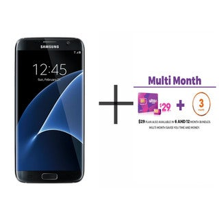 Samsung Galaxy S7 Edge G935F 32GB GSM 4G LTE Octa-Core Phone w/ 12MP Dual Pixel Camera + $29 Ultra Mobile SIM 3 Month Plan