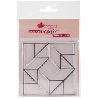 """Woodware Clear Stamps 3.5""""X3.5""""-Patched Three"""