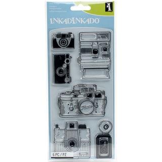 "Inkadinkado Clear Stamps 4""X8""-Cameras"