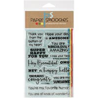Paper Smooches Clear Stamps 4X6 -Fun & Flirty