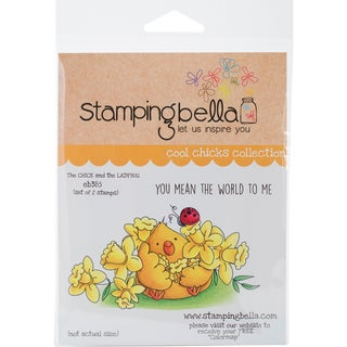 Stamping Bella Cling Stamp 6.5X4.5-The Chick & The Lady Bug