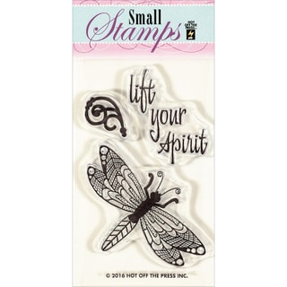 "Hot Off The Press Acrylic Stamps 2""X3.25""-Zen Dragonfly"