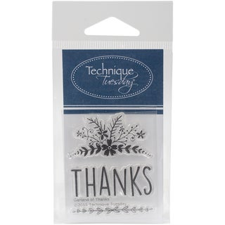 Technique Tuesday Clear Stamps 2X2.5-Garland Of Thanks
