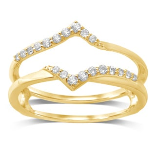 Unending Love 14k Yellow Gold 1/5 ctw Diamond ( I-J Color, I2-I3 Clarity ) Wrap Guard Ring