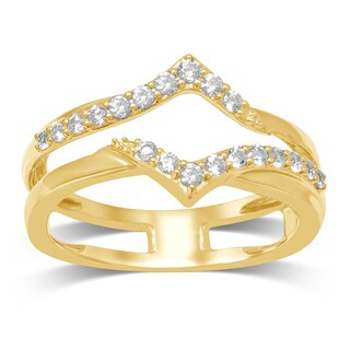 Unending Love 14k Yellow Gold 1/3ct TDW Diamond Wrap Guard Ring (More options available)