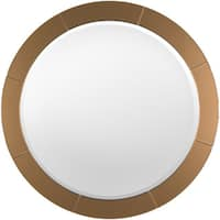 Glass Deressa Wall Mirror (37.8 x 37.8) - Copper