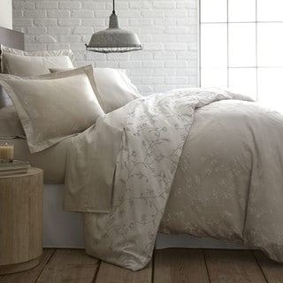 Sweetbrier Luxury Cotton Reversible Duvet Cover and Sham Set