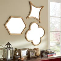 Vega Hexagon Flower Diamond Shape Wall Mirrors (Set of 3) by iNSPIRE Q Bold