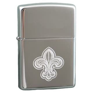 Zippo Fleur De Lis High Polish Chrome Windproof Lighter