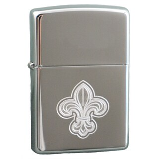Link to Zippo Fleur De Lis High Polish Chrome Windproof Lighter Similar Items in Humidors & Accessories
