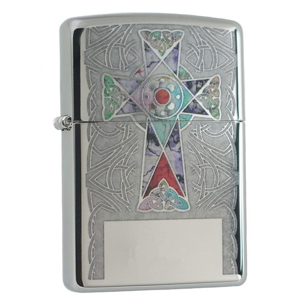 Zippo Fuzion Cross High Polish Chrome Windproof Lighter