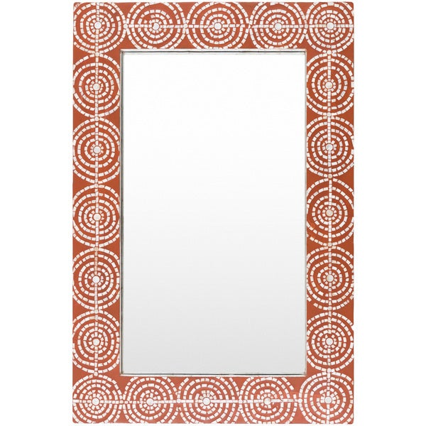 Shop Jaeraen Wall Mirror (24 x 36) - Red - On Sale - Free Shipping ...
