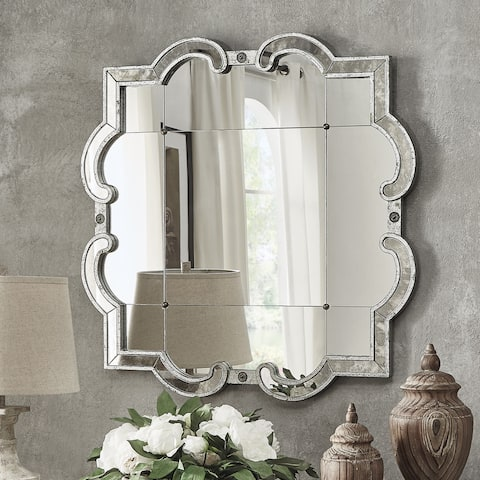 Fantina Silver Paned Wall Mirror by iNSPIRE Q Classic