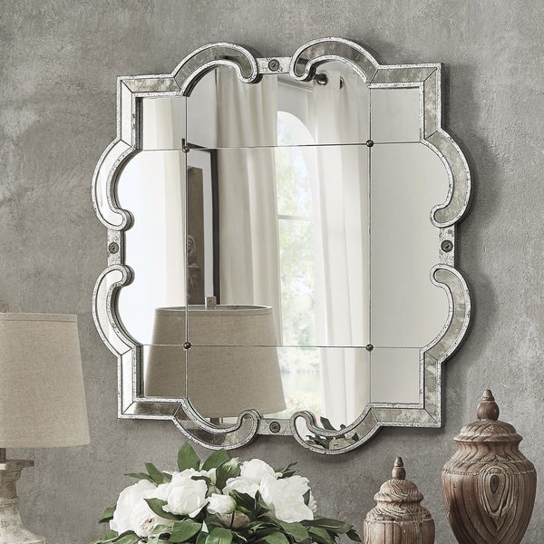 Fantina Silver Paned Wall Mirror by iNSPIRE Q Classic - N/A