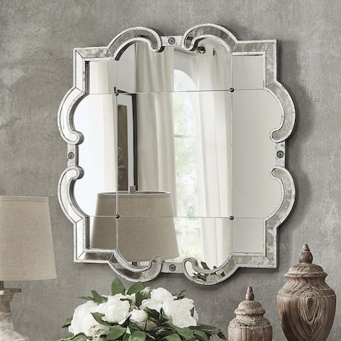 Fantina Silver Paned Wall Mirror by iNSPIRE Q Classic - Antique Silver