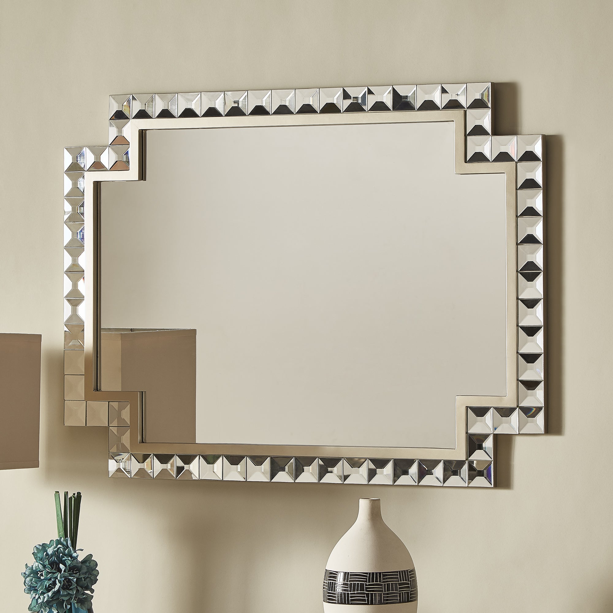 Zuni Champagne (Beige) Gold Wall Mirror by iNSPIRE Q Bold...