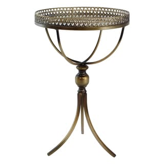 Calico Bronze Metal Accent Table