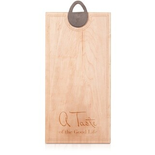"J.K. Adams Sandgate ""A Taste of the Good Life"" Maple Presentation Cutting Board"