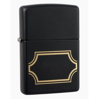 Zippo Black Matte with Nameplate Windproof Lighter