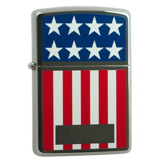 Zippo American Flag Colored & Chrome Windproof Lighter