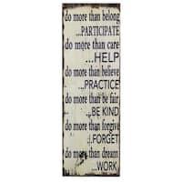 'Do More' Inspirational Wall Plaque