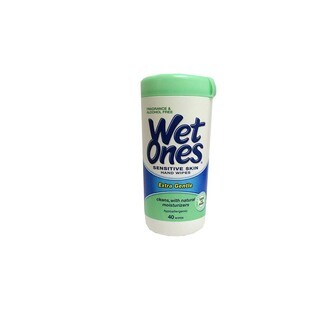 Wet Ones Sensitive Skin Hand Wipes Extra Gentle (40 Wipes)