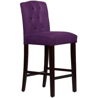 Skyline Furniture Custom Tufted Arched Bar stool in Velvet