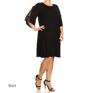 Women's Plus Size Solid Dress