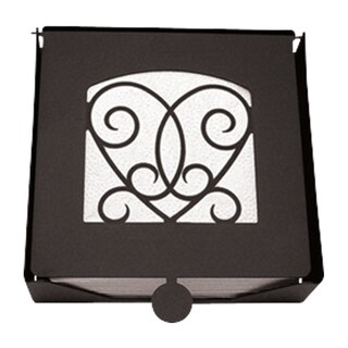 Black Metal Heart Napkin Holder