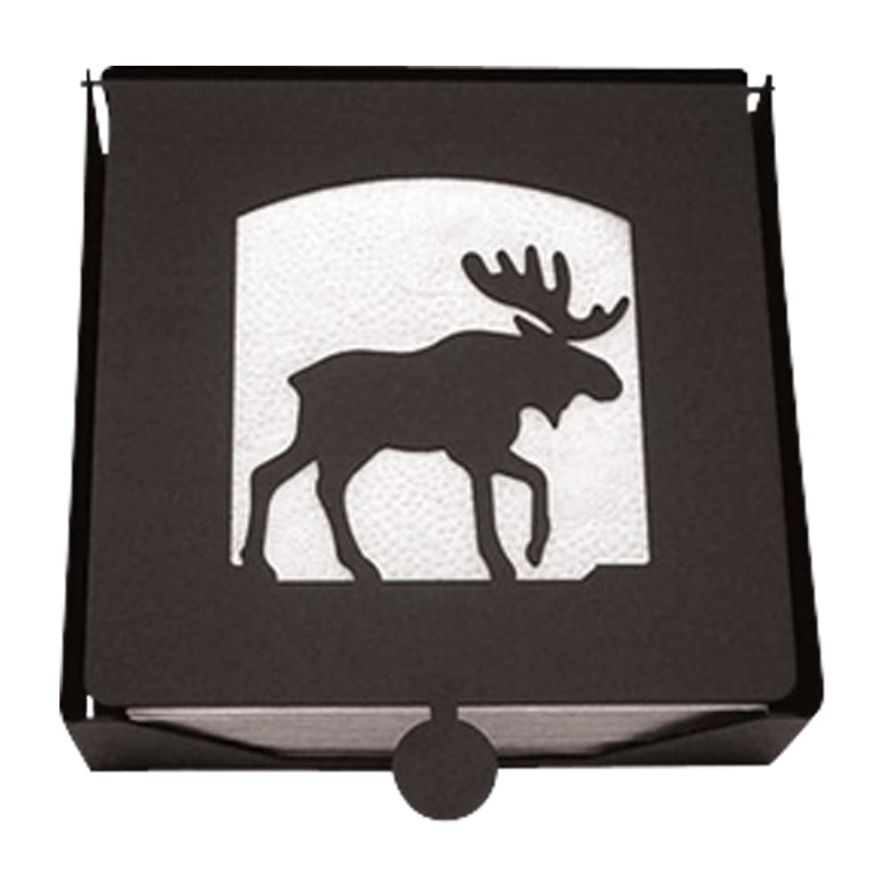 Silhouette Black Metal Moose Napkin Holder (NH-B-19-VWR)