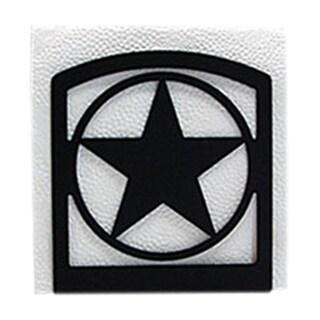 Western Star Black Metal Napkin Holder