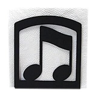 Music Note Black Metal Napkin Holder