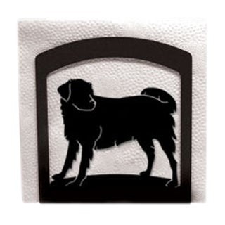 Dog Black Metal Napkin Holder