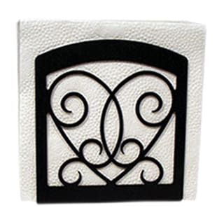 Heart Black Metal Napkin Holder