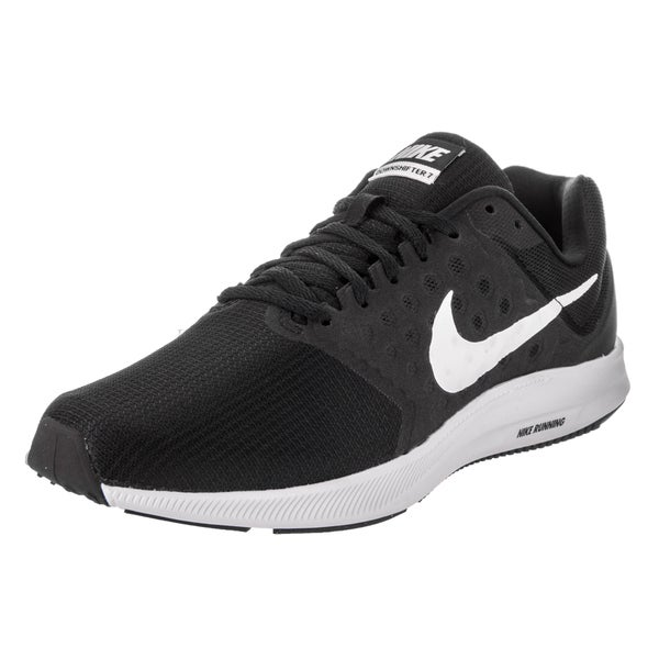 8de7c362fa79 Shop Nike Men s Downshifter 7 Black Running Shoes - Free Shipping ...