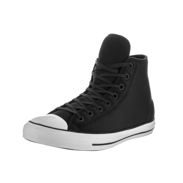 8b5f15007d6cdf Converse Unisex Chuck Taylor All Star Hi Black Synthetic Leather Basketball  Shoes - Free Shipping Today - Overstock.com - 21020012
