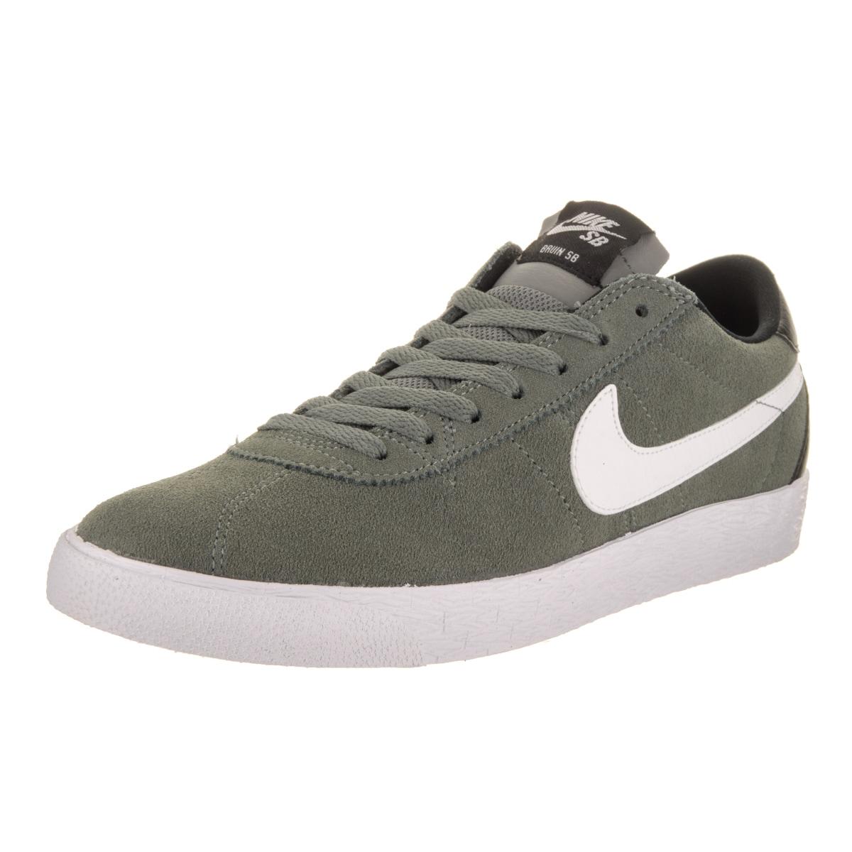 Nike Men's SB Bruin Zoom Premium SE Grey Suede Skate Shoe...