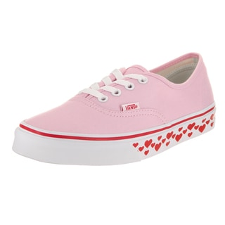 Vans Unisex Authentic Pink Hearts Canvas Skate Shoe