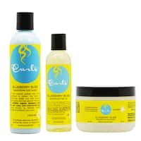 Curls Blueberry Bliss Hair Wash & Mask & Hair Oil Combo