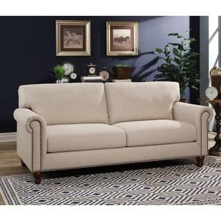 Abbyson Bella Ivory Fabric Sofa