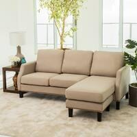 Abbyson Henry Beige Reversible Sofa Sectional